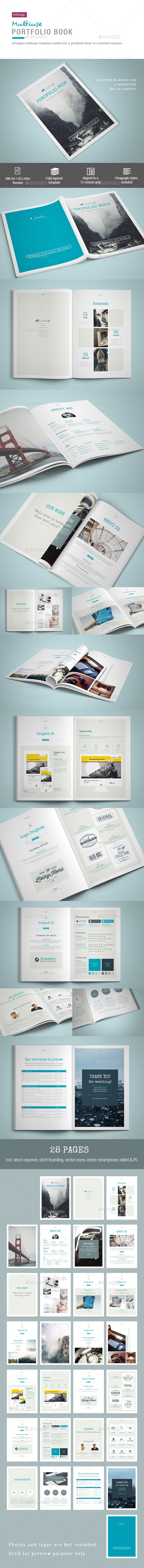 Portfolio Book - 28 Pages Template #design Download: http://graphicriver.net/item/portfolio-book-28-pages/11710399?ref=ksioks