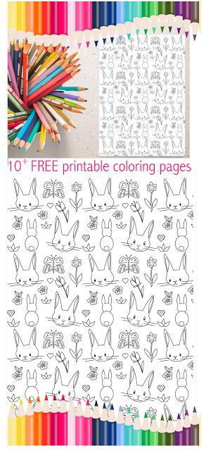 10 FREE printable Spring coloring papers | spring activity