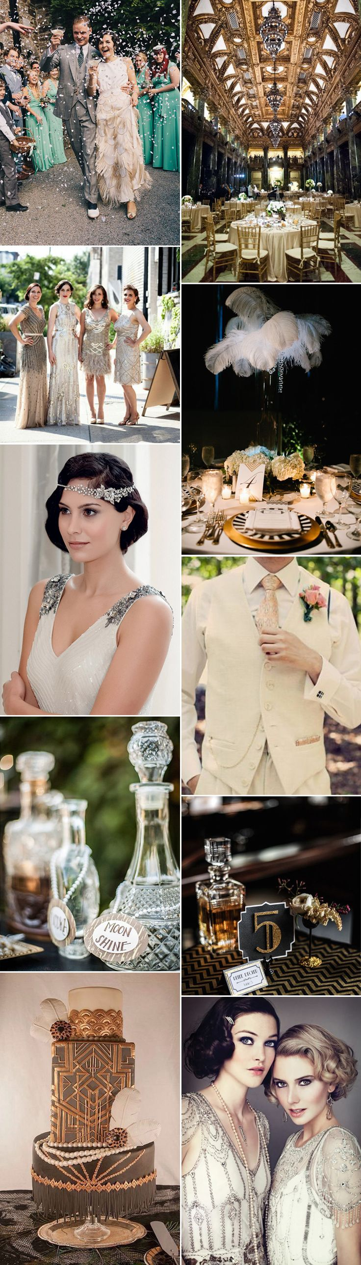 1920s wedding day glamour on GS Inspiration - Glitzy Secrets -repinned from Los Angeles County, CA marriage officiant https://OfficiantGuy.com