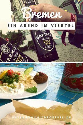 Tag 1 unseres Roadtrips nach Schweden führte uns nach Bremen. Ein Abend im Viertel mit Bier und arabischem Essen. So fängt die Reise gut an...