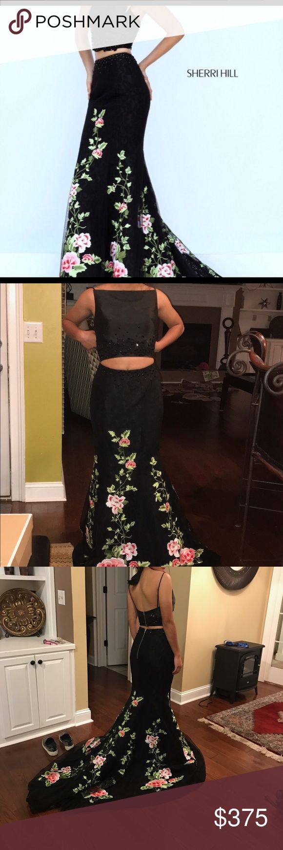 Black Sherri Hill dress black sherri hill dress! minor alterations. Size 2. Sherri Hill Dresses