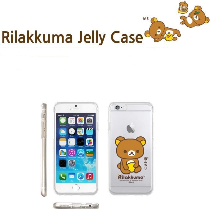 SAN-X RILAKKUMA CLEAR JELLY KAWAII COVER FOR GALAXY A7