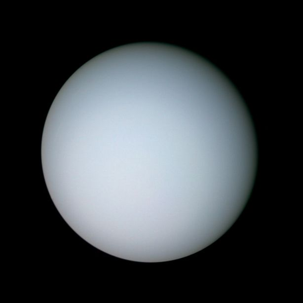 Color global view of Uranus from Voyager 2 | The Planetary ...