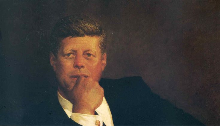 Jamie Wyeth - John F Kennedy  In the early 60's the Kennedys took notice of Jamie Wyeth's work, and after J.F.K was assassinated, Jacqueline Kennedy hired Jamie to paint a posthumous presidential portrait.