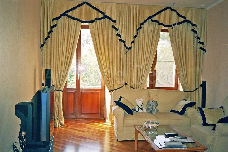 Классические шторы с интересным ламбрекеном #curtains