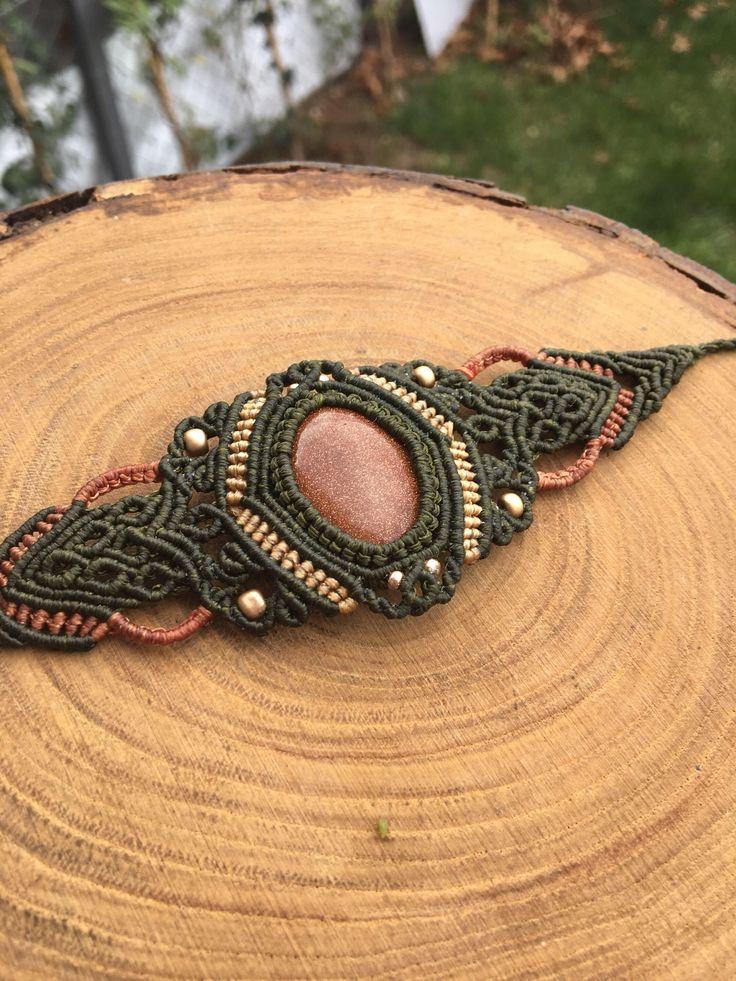 #macrame #macramebracelet #bracelet #handmade #bileklik #yıldıztaşı #gemstone #starstone #green #jewelry #takı #tasarım