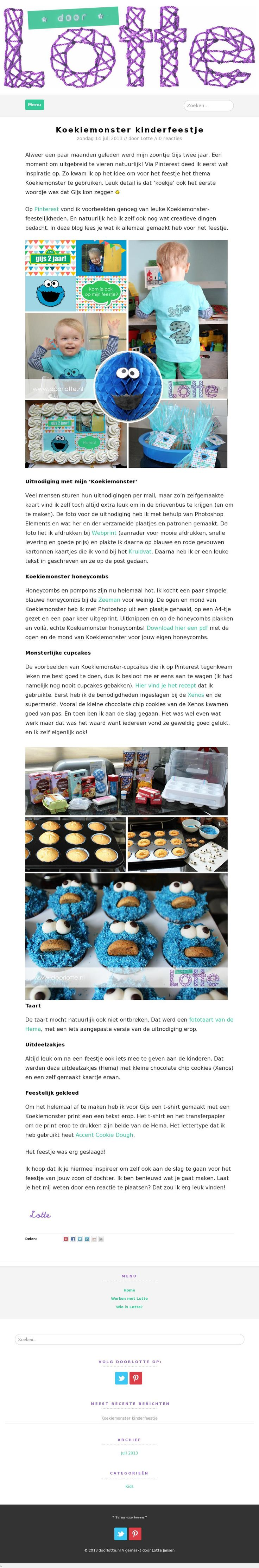 Mijn eigen website is live!  Op www.doorlotte.nl deel ik al mijn creativiteit want van mooie dingen maken word ik blij!