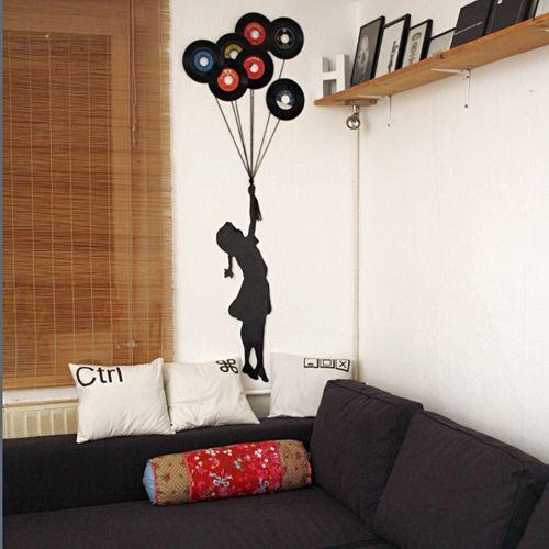 DIY Vinyl Records ArtOld Records, Kids Room, Vinyl Records, Diy Wall Art, Diy Wall Decor, Diy Vinyl, Music Room, Records Art, Vinyls Records