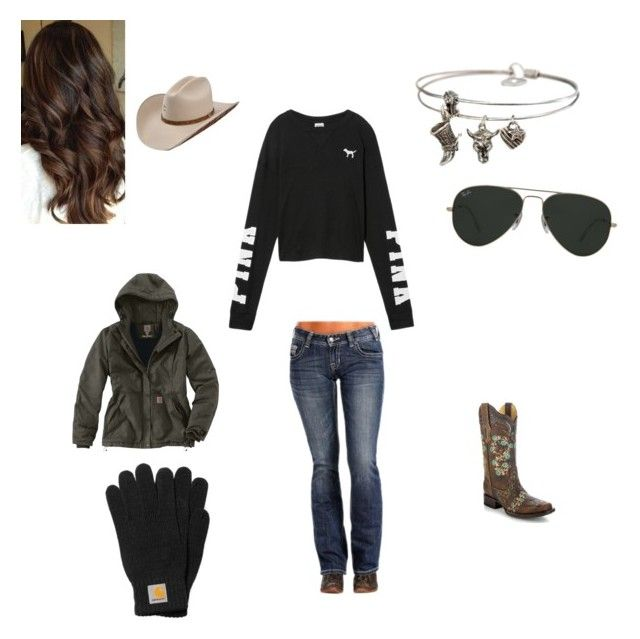 """love this"" by heidi-henderson on Polyvore featuring Victoria's Secret, Sweet Romance, Carhartt and Ray-Ban"