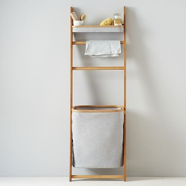 Bamboo Leaning Bath Shelf #westelm Definitely need this for the bathroom!