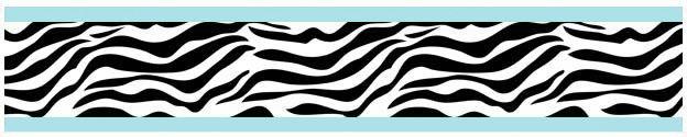 "Zebra 15' x 6"" Animal Print Border Wallpaper"