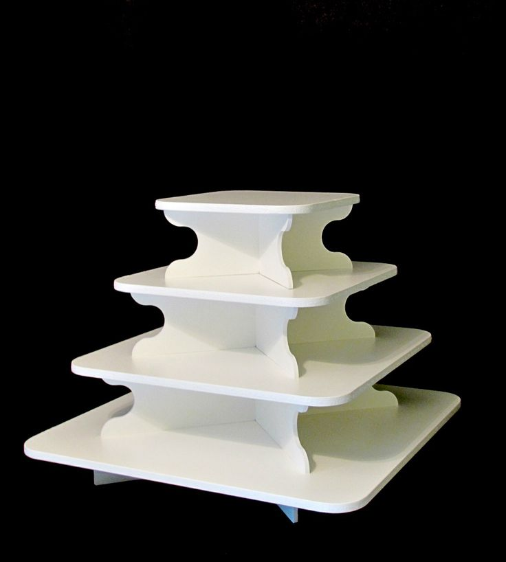 Our medium square cupcake stand is great for any occasion. It's a square 4 tier cupcake stand that makes a great addition to any dessert display.