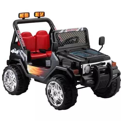 jeep negro 12 v , mp3, r/c, sonido, luz ploppy 381248