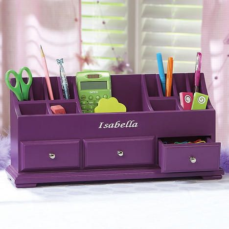 Royal Purple Wooden Desk Dresser Organizer 49 99
