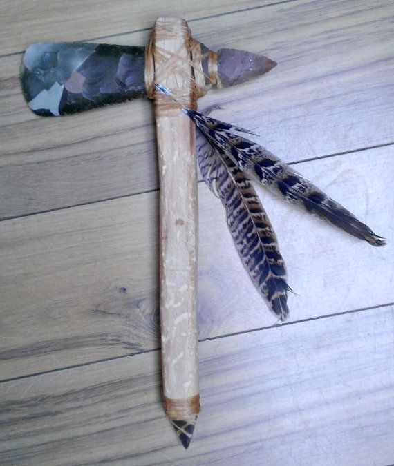 Stone Tomahawk Native American Weapon Shamanism by TheOwen on Etsy, £105.00