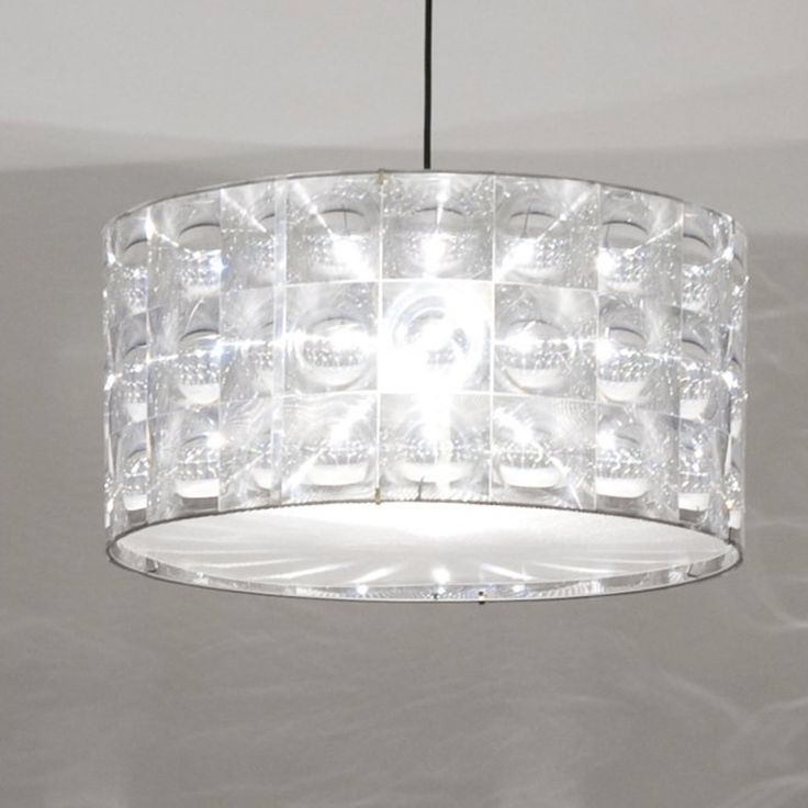 Creating dramatic displays of light, the optical Lighthouse shade adds a retro feel to a space evoking space age design of the 1960s. Designed in London by innovative lighting manufacturers Innermost, the modern form and construction of this mesmerising piece reinterprets classic crystal pendants to create beautiful refractions of light.
