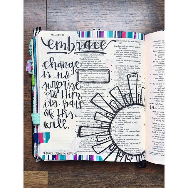 Bible Journaling by Trudy Barker @colorsoffaith | Psalm 139:16
