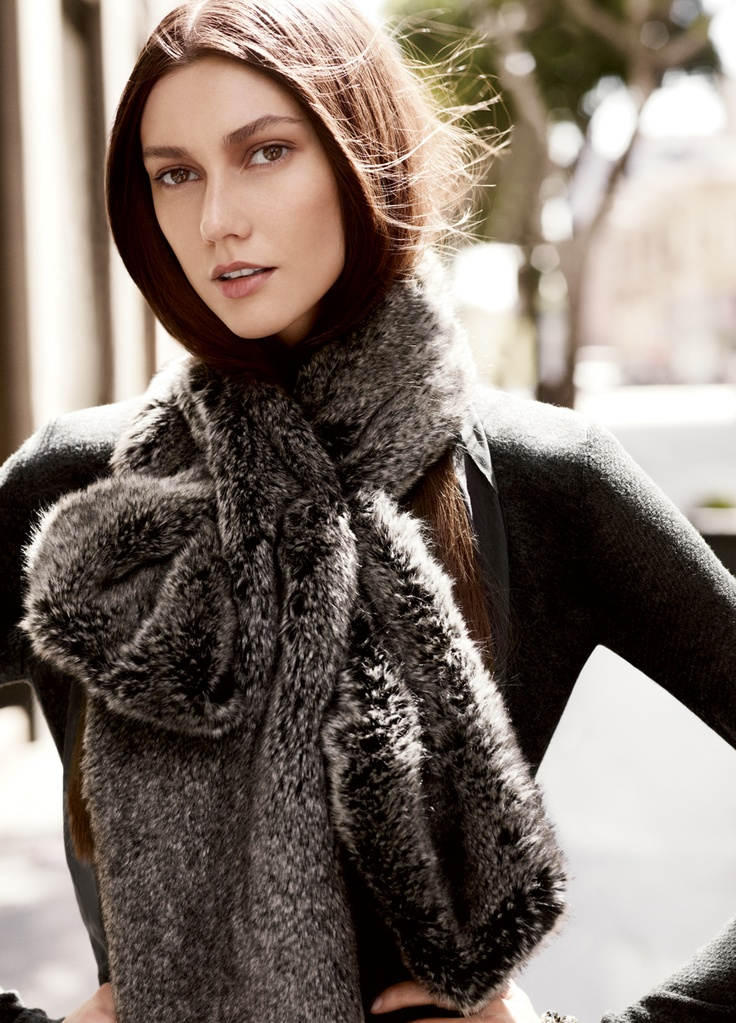 A Simply Vera Vera Wang faux fur scarf is a hot cool-weather accessory. #Kohls
