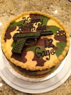 Gage S Camo Airsoft Gun Cake Baking My Baking