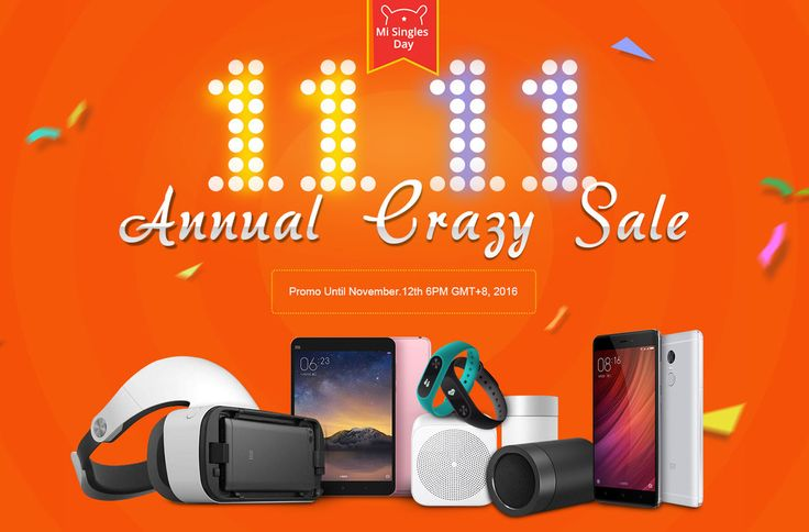 Xiaomi Single Days Sales 11.11, from Geekbuying !