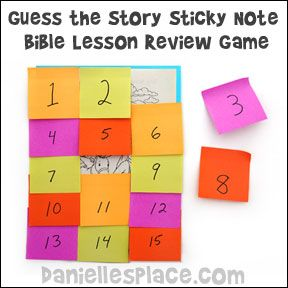 Guess the Story Sticky Note Bible Lesson Review for Children's Ministry from www.daniellesplace.com