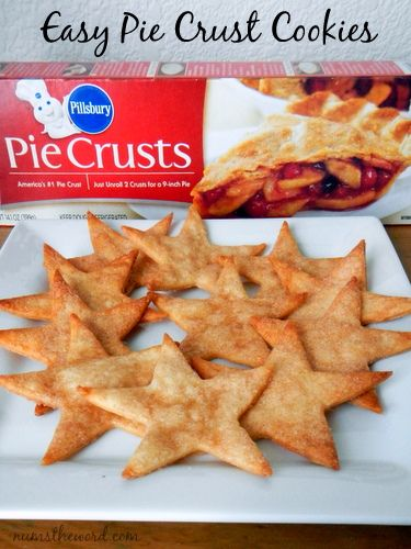 These easy to make pie crust cookies are buttery, flaky and covered in cinnamon sugar.  Really, what is there not to love about them?