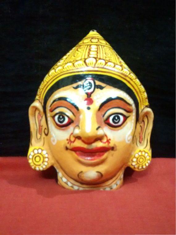 A beautiful pattachitra papier mache mask of by PattachitraNet