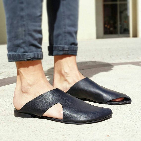 Sale 40% off Slip ons Leather slip ons Leather by UnaUnaShoes