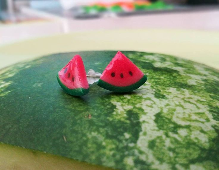 Watermelon / Earrings / Polymer clay / Hand made | Jewelry & Watches, Handcrafted, Artisan Jewelry, Earrings | eBay!