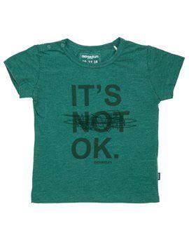 IMPS & ELFS Unisex Baby 'It's Not OK' T-Shirt. Shop here: http://www.tilltwelve.com/en/eur/product/1062313/IMPS-ELFS-Unisex-Baby-It-s-Not-OK-T-Shirt/