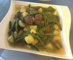 Rezept Grüner Bohneneintopf mit Hackfleischbällchen von DASTIFF - Rezept der Kategorie Suppen