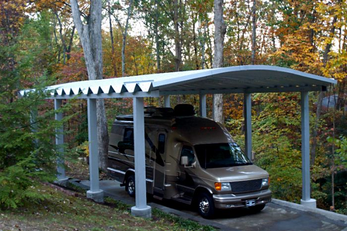The 25 best rv carports ideas on pinterest rv shelter for Garage pole cover