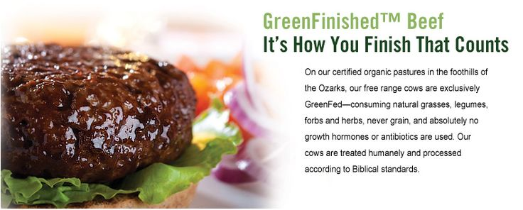 It's how you finish that counts. Green Finished Beef. - Marketer Carrie Strimel