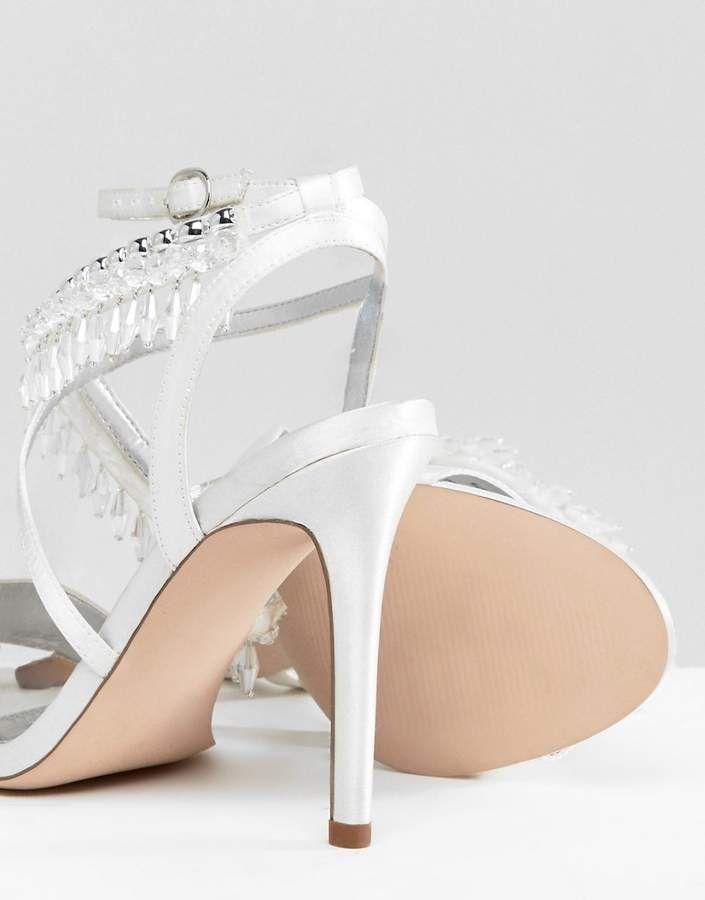 7c1f79b0d92a Asos DESIGN Hydro Bridal Embellished Heeled Sandals  Hydro DESIGN Asos