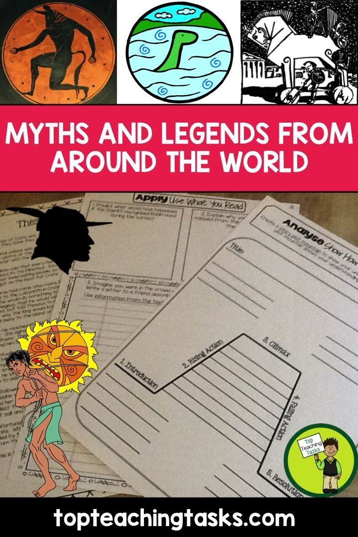 This Myths and Legends Around The World Reading Resource includes FIVE Grade Four and Five (Year Five and Six) Literature/Non-Fiction texts with six engaging text dependent higher order thinking tasks - perfect for reading comprehension! These link directly to the CCSS and the New Zealand Curriculum. Features the following Myths and Legends: - Theseus and the Minotaur, The Loch Ness Monster, The Legend of Robin Hood, The Trojan Horse and Māui and the Sun! #mythsandlegends…