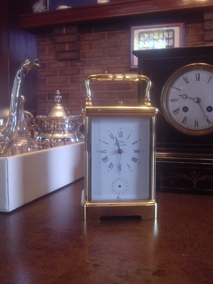 L'Epee carriage clock with subdial, time/strike/chime repeater with open escapement - what a fantastic find!