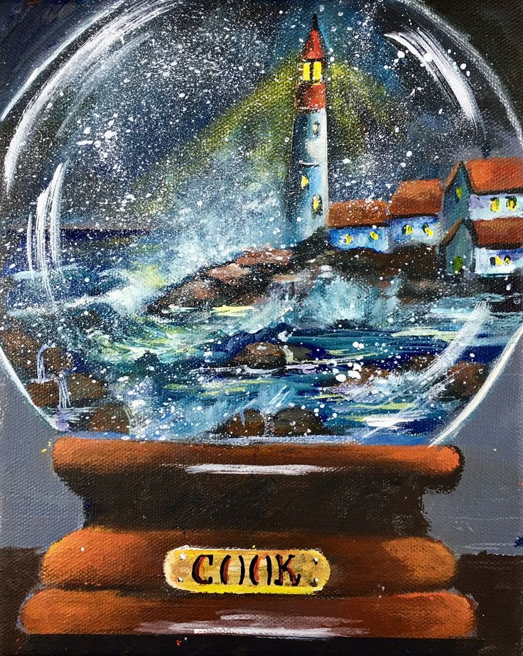 LIGHTHOUSE Snow Globe is the Nov. 10 Thursday release for our Vidoe Lesson Library. It will be in our Wave and Water class also. 8x10 we will learn to paint using the grid system. 2 cookies.