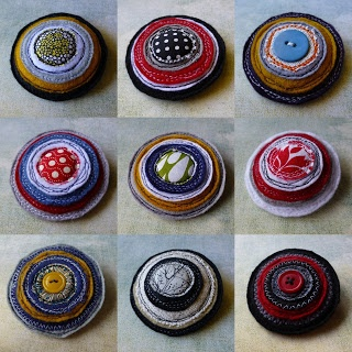 eclectic me: Felt & fabric brooches