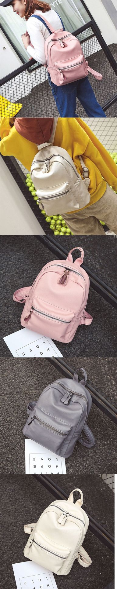 2017 Fashion Chic Pure Colors Simple Style PU School Backpack backpack for women,backpack for women work,backpack for women travel,backpack for women fashion,backpack for women fashion style,backpack for women fashion travel,backpack for women college,backpack for college,backpack for college women,backpack for college women laptop bags,backpack for college women book bags,backpack for college women laptops,backpack for college women casual