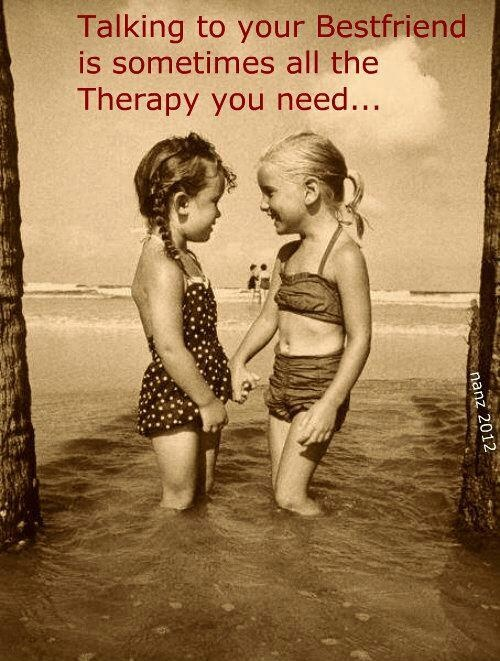 Talking to your best friend is ...