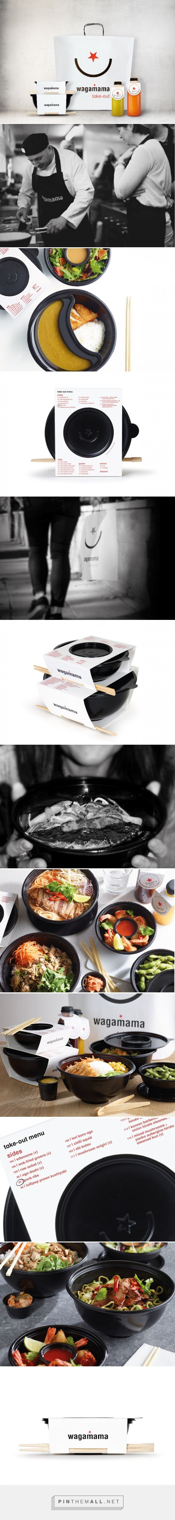 Wagamama Takeaway Packaging designed by Pearlfisher.​ - http://www.packagingoftheworld.com/2015/10/wagamama-takeaway.html