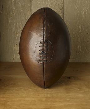 Can be personalised, hand stitched rugby ball
