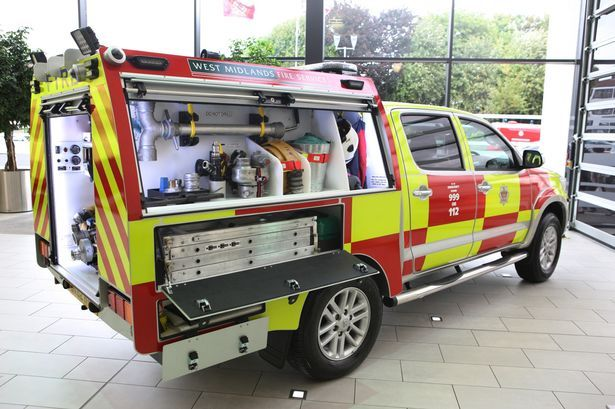 One of the new West Midlands Fire Service BRVs