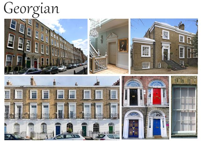 27 best georgian architecture images on pinterest for Common architectural styles