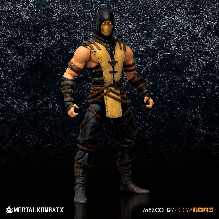 "scorpion mortal kombat | Mortal Kombat X Scorpion 6"" Figure – Mezco Toyz"