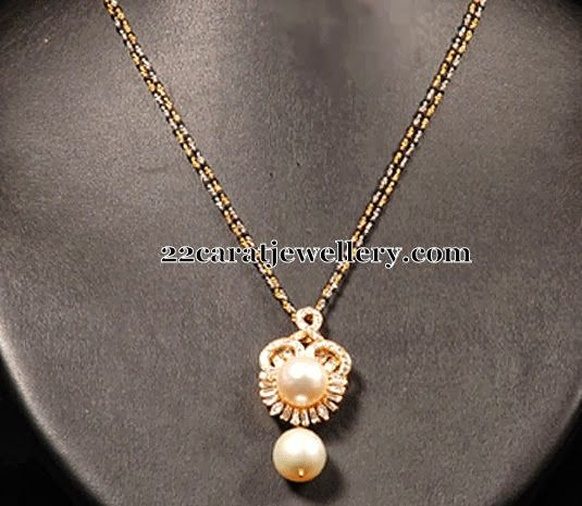 South Pearl Drops Mangalsutra | Jewellery Designs