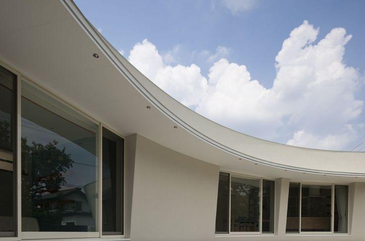 zeitgenössischer nachhaltiger japanischer Architektur integrieren eine grüne Wand einen grünen Geröll in das Gebäude Design (12) Homesthetics net