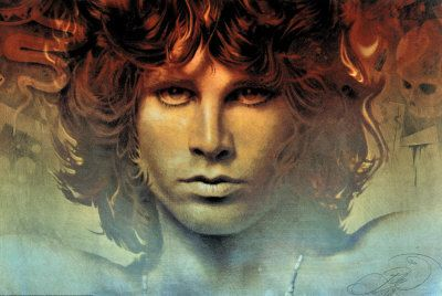 grew up loving this man and still do ...the doors.