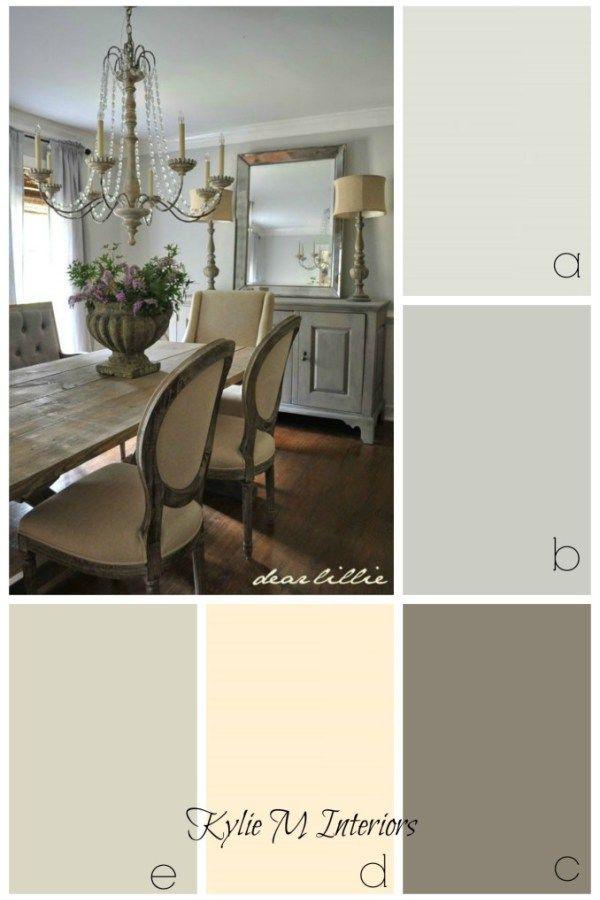 ideas de decoración y pintura de color para una casa de campo, sala de estilo rústico, o país