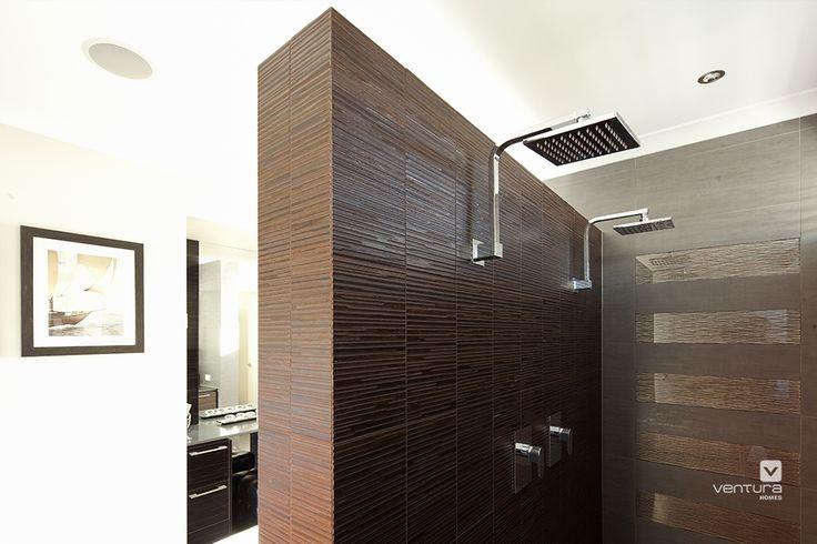 Ensuite shower design in 'The Sentosa' display home by #VenturaHomes. #interiordesign